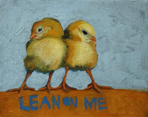 """1.23.13  Lean on Me"" original fine art by Miriam Hill"