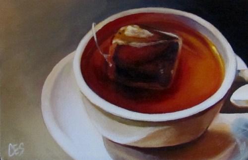 """""""Herbal Tea"""" original fine art by ~ces~ Christine E. S. Code"""