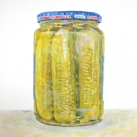 """Pickle Spears_2"" original fine art by Linda Demers"