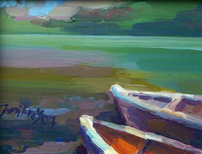 """Alte Boote"" original fine art by Jurij Frey"