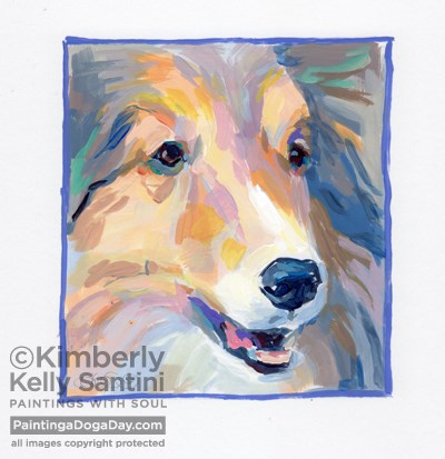 """Keelie, A Painted Sketch"" original fine art by Kimberly Santini"