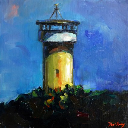 """water tower"" original fine art by Jurij Frey"