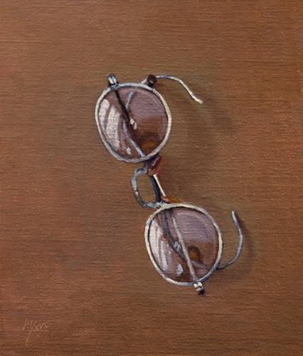 """Spectacles (After George Cope, 1900)"" original fine art by Abbey Ryan"