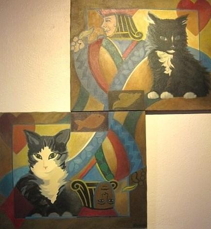 """Serious Play"" original fine art by Priscilla Bohlen"