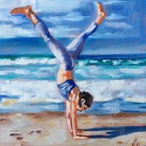 """""""Handstand"""" original fine art by Sonja Neumann"""