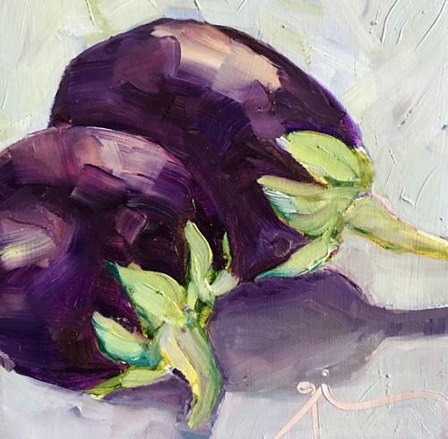 """""""Eggplant"""" original fine art by Gigi ."""