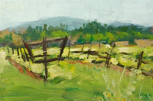 """Spring Comes to the Vineyard"" original fine art by J. Farnsworth"
