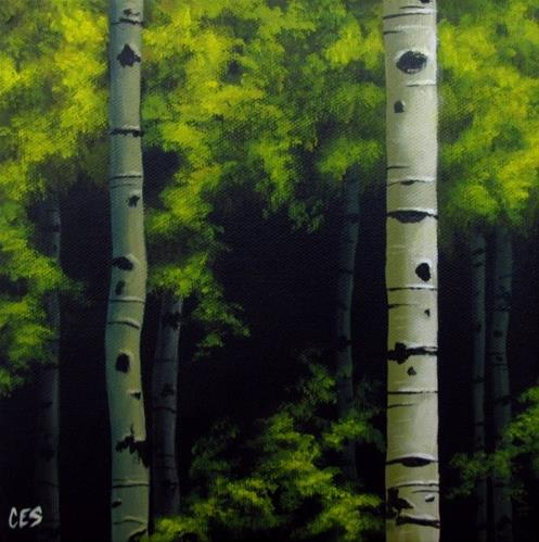 """Summer Foliage"" original fine art by ~ces~ Christine E. S. Code"