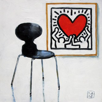 """crazy kind of love"" original fine art by Kimberly Applegate"