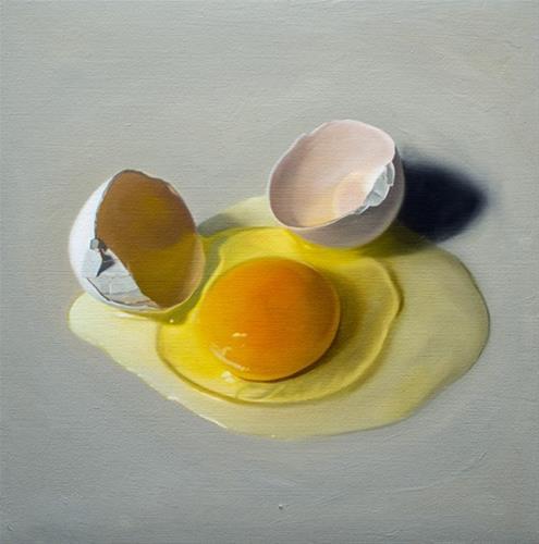"""""""Cracked Egg"""" original fine art by Lauren Pretorius"""