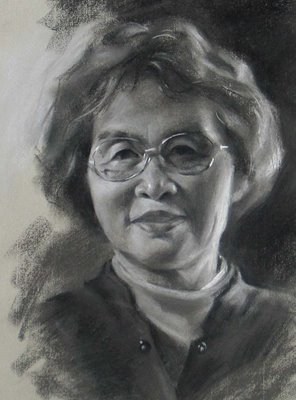 """My Mom"" original fine art by Qiang Huang"