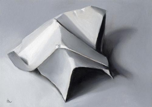 """""""crumpled paper #2"""" original fine art by Ria Hills"""