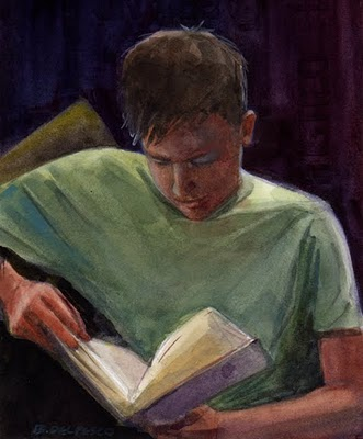 """Watercolor: Quiet Getaway"" original fine art by Belinda Del Pesco"
