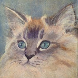 """""""Lindsey's Cats -Molly"""" original fine art by Lyn Gill"""