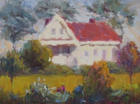 """Mendocino Spencer Home"" original fine art by Carol Myer"
