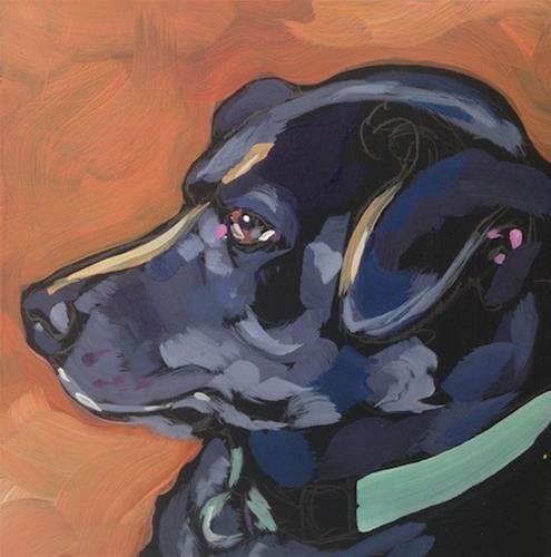 """Green Collar"" original fine art by Kat Corrigan"