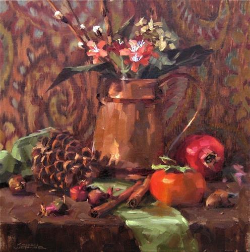 """""""Still Life In Copper"""" original fine art by Karen Werner"""