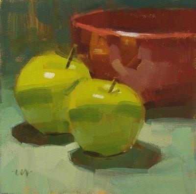 """Reflections in Red"" original fine art by Carol Marine"