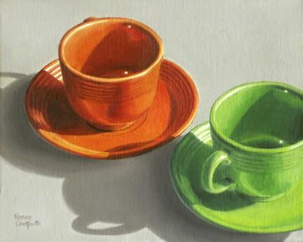 """Two Fiesta Cups"" original fine art by Nance Danforth"