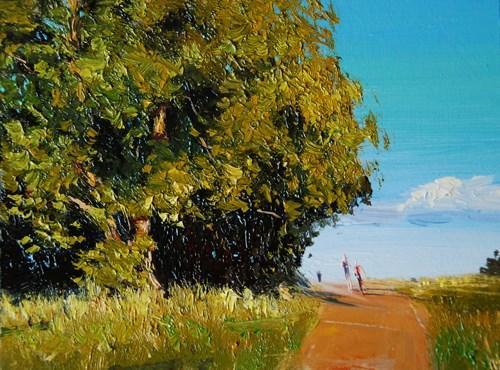 """""""Summerlight, Parliament Hill"""" original fine art by Adebanji Alade"""