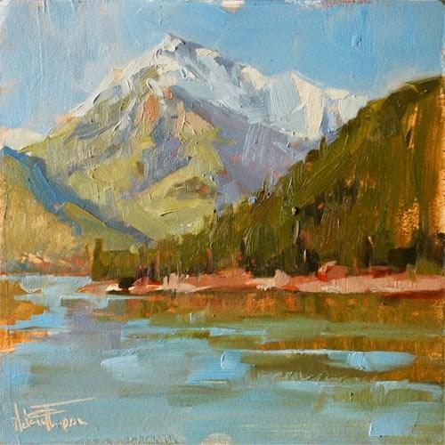 """Bonneville Mountain Morning"" original fine art by Melanie Thompson"