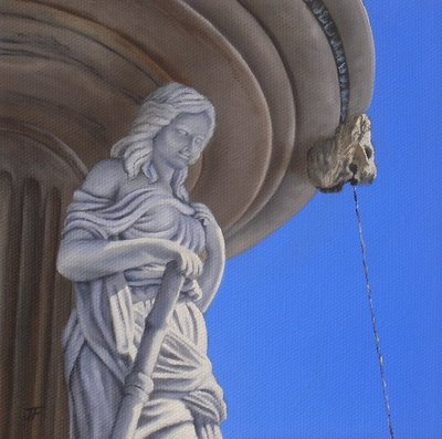 """""""Fountain Beauty 2 - Private Commission"""" original fine art by Jelaine Faunce"""
