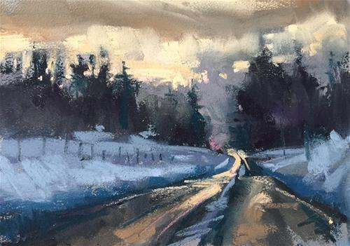 """Winter sunrise"" original fine art by Marla Baggetta"