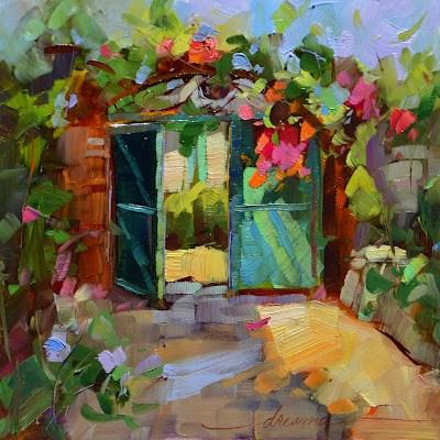 """Bienvenue!"" original fine art by Dreama Tolle Perry"