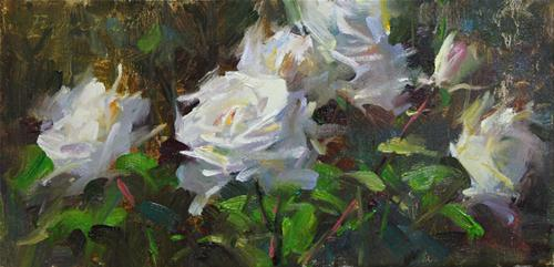 """Roses"" original fine art by Fongwei Liu"