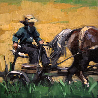 """Farmer"" original fine art by Karin Jurick"