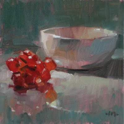"""Grapes & Bowl"" original fine art by Carol Marine"