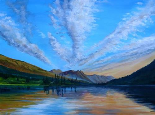 """South Canol, Cloud Formations"" original fine art by Jackie Irvine"