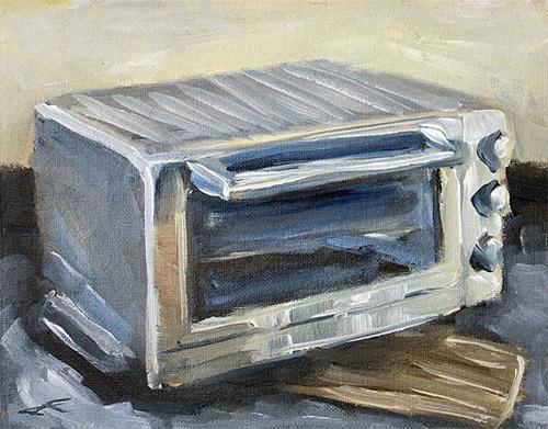 """Toast Time"" original fine art by J. Farnsworth"