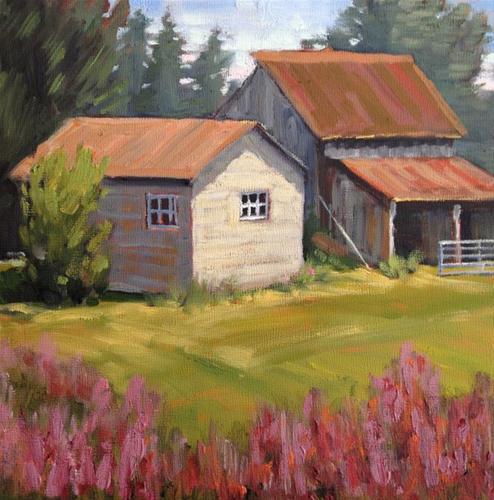 """""""Old Barn in Park City, Utah"""" original fine art by Deborah Newman"""