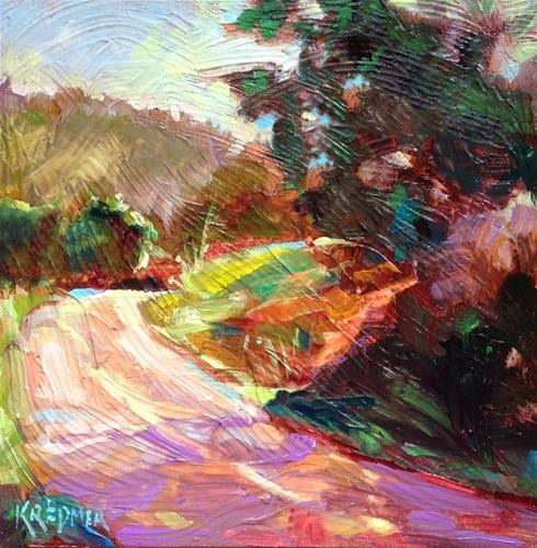 """Mile Marker"" original fine art by Kathleen Redmer"