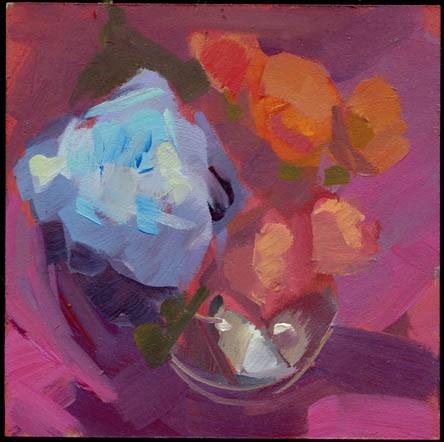 """1506 Oversized Flower"" original fine art by Lisa Daria"