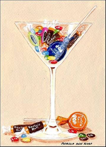 """A Sweet Cocktail"" original fine art by Patricia Ann Rizzo"