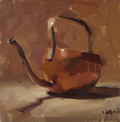 """""""Copper Water Can"""" original fine art by Carol Marine"""