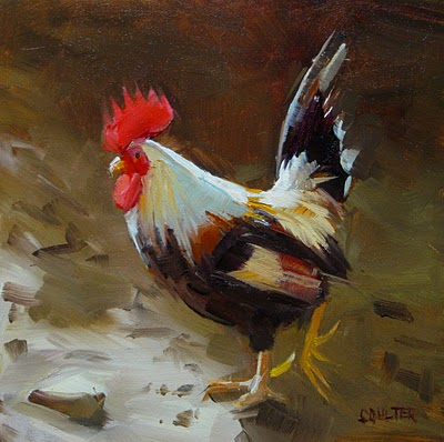 """""""DUDE ROOSTER"""" original fine art by James Coulter"""