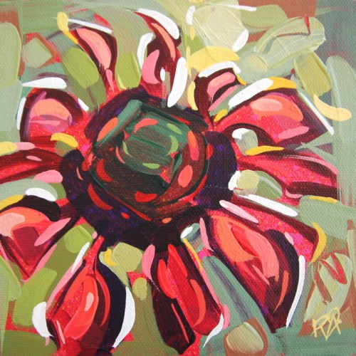 """Flower Abstraction 193"" original fine art by Roger Akesson"