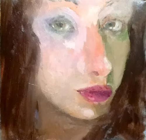 """Zombie"" original fine art by Peggy Schumm"