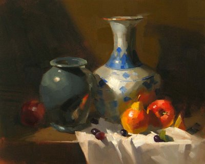 """""""Vase from China"""" original fine art by Qiang Huang"""
