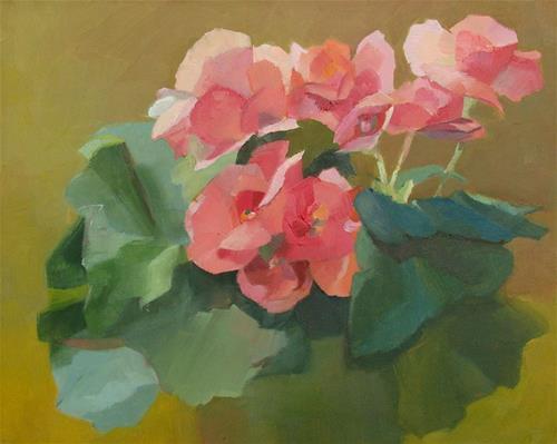 """Begonias"" original fine art by Rebecca Helton"