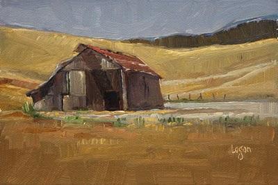 """Lonely San Luis Obispo Barn"" original fine art by Raymond Logan"