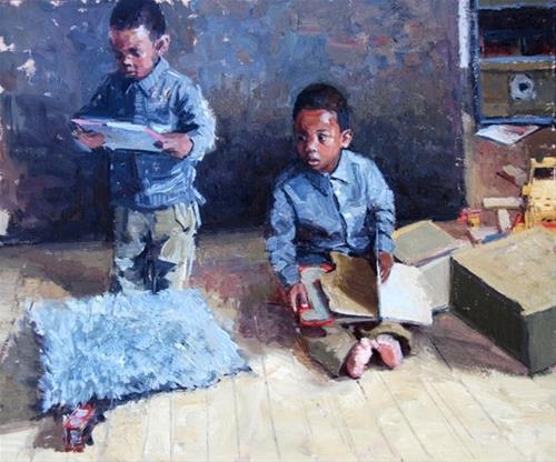 """Kids, Life, Art and Stuff 15"" original fine art by Adebanji Alade"