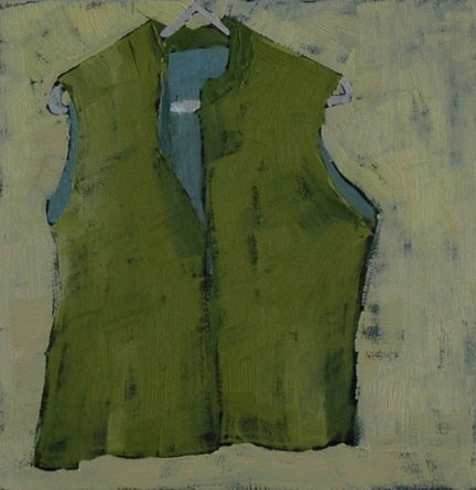 """GREEN VEST"" original fine art by Linda Popple"
