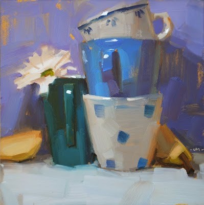 """Stack Groupies"" original fine art by Carol Marine"