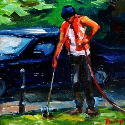 """""""In the work"""" original fine art by Jurij Frey"""