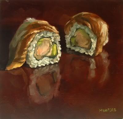 """Dragon Roll"" original fine art by Michael Naples"