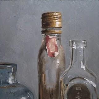 """""""Antique Tops"""" original fine art by Michael Naples"""